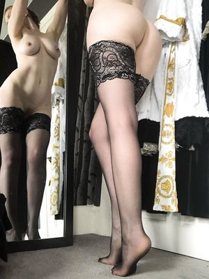 Checking out my hold ups in the mirror