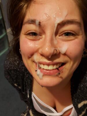 She looks very happy
