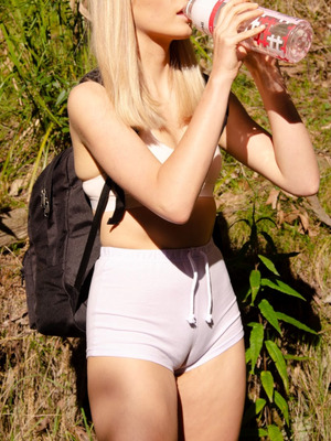 20 yo. my sister wearing my shorts hiking, she told me to post this btw!
