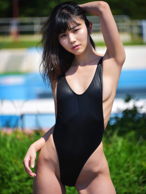 Japan Girl in Swimsuit