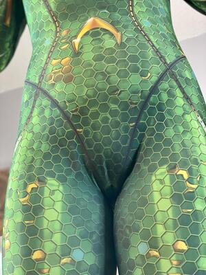 My Mera Costume showing my shapely pussy