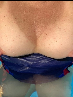 Nipples slip at pool
