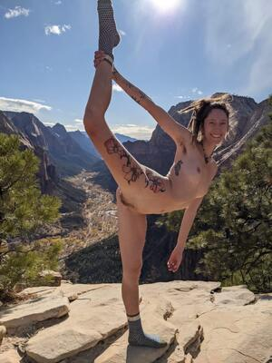 Couldnt hike to my favorite mountain on my birthday and not strip down to my birthday suit. Hehe cheers to 28!