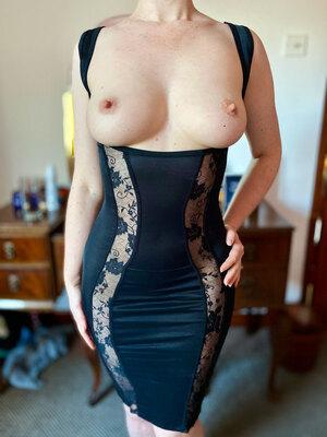 Naughty wife in a naughty dress here... hope you like?