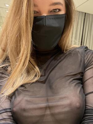 37 yo. Mask on, bra off