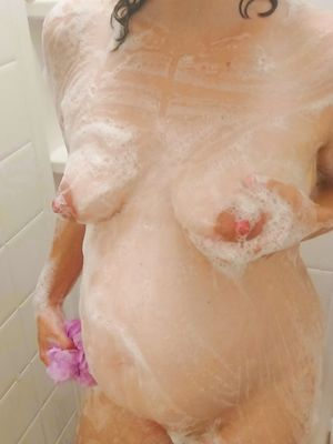 Pregnant Girl in Shower