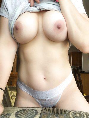 My Girlfriend Flashing Tits Without Bra