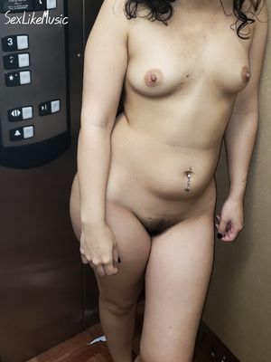 Posing Nude in the Elevator
