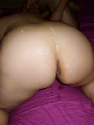 Fat Wife Ass in Cum