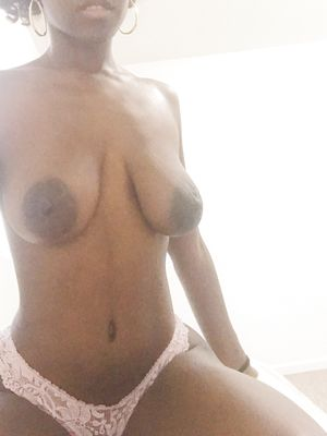 Black Saggy Tits With Big Oreolas