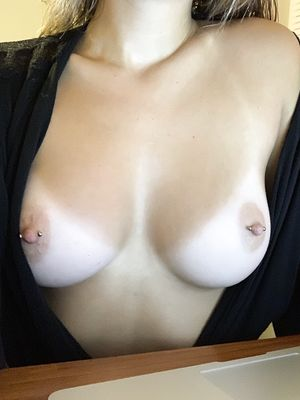 Flash Tits With Pierced Nipples