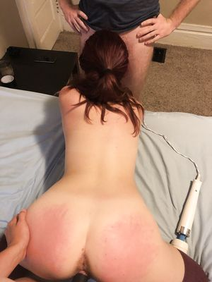 Redhead With Spanked Ass in MMF Threesomes