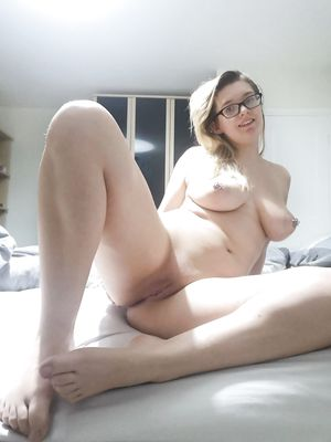 Sexy Chick With Pierced Nipples Open Legs