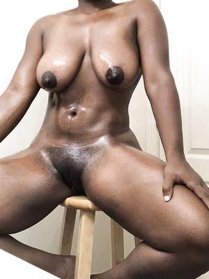 Ebony Babe Oiled Up