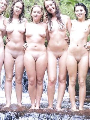 group, nude, gf